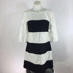 Jessica Simpson Dress Lace Colorblock Stripe